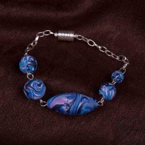 marga modelino mėlynas apyrankė magnetiniu susegimu