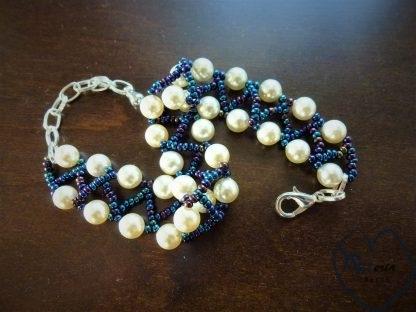 apyrankė swarowski perlais