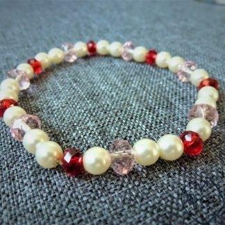 stiklo perlų apyrankė