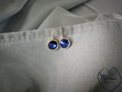 sidabriniai swarowski kristalų auskarai