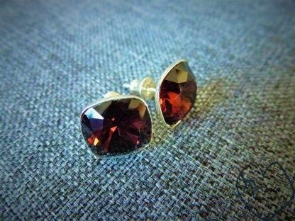 sidabriniai auskarai su swarowski