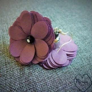 auskarai medžiaginės gėlytės
