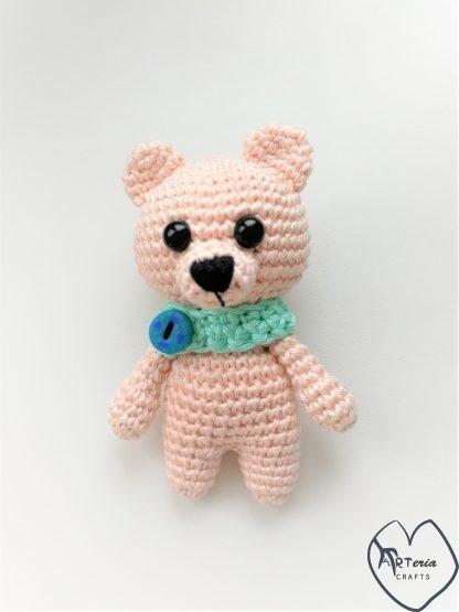 pliušinis vaikiškas žaisliukas meškiukas su saugiomis akutėmis